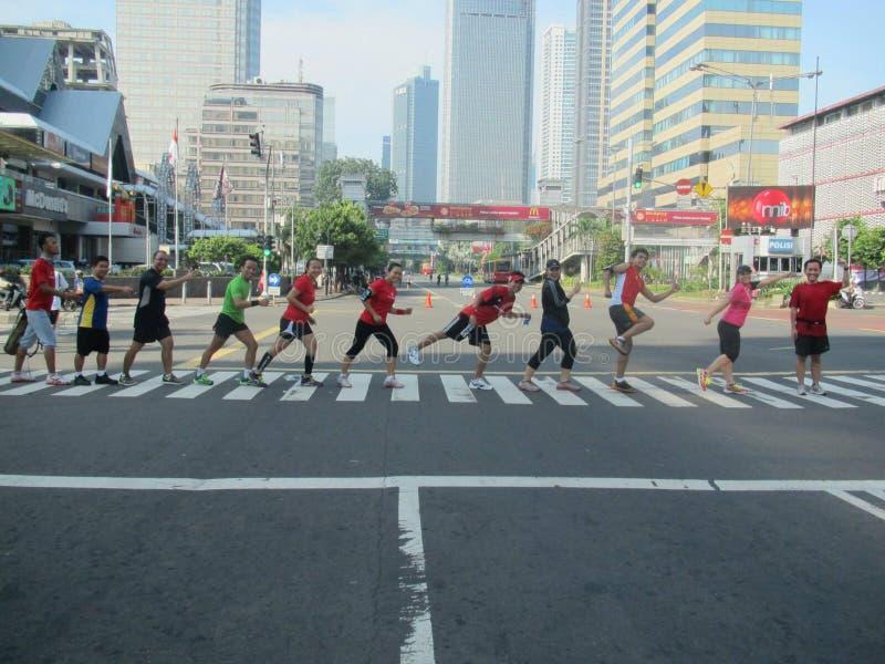 Auto vrije dag Djakarta stock foto