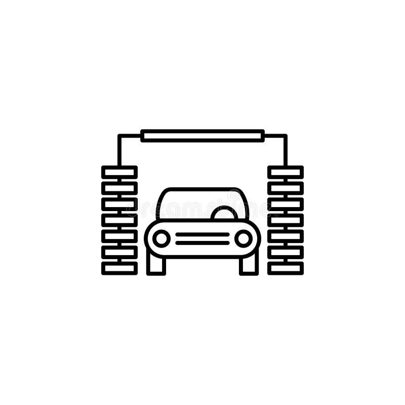 Auto, was, het pictogram van het machineoverzicht Kan voor Web, embleem, mobiele toepassing, UI, UX worden gebruikt royalty-vrije illustratie