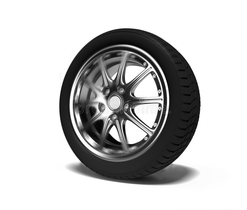 Auto wheel stock images
