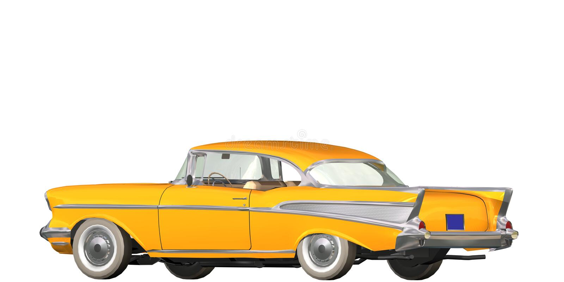 Auto wijnoogst royalty-vrije illustratie