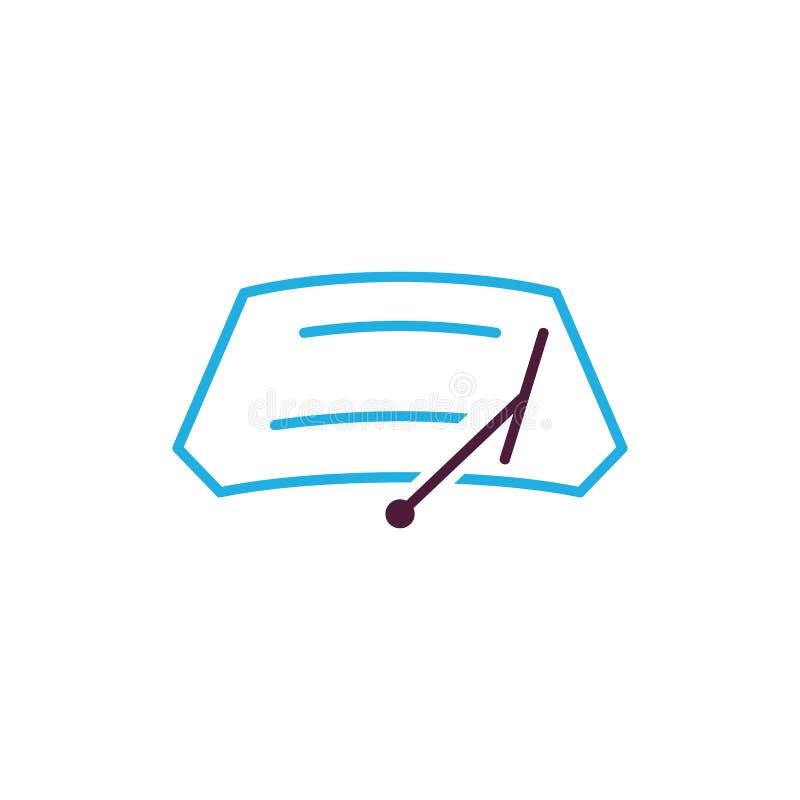 Auto-Wischer Logo Icon Design stock abbildung