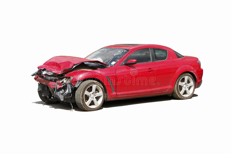 Auto wreck stock photography