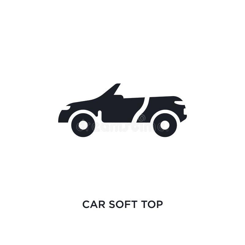 auto zacht bovenkant geïsoleerd pictogram eenvoudige elementenillustratie van het conceptenpictogrammen van autodelen het tekensy royalty-vrije illustratie