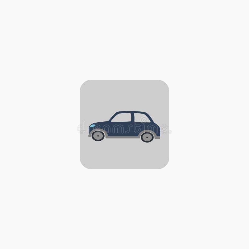 Auto zeichen ikone Kleines Auto Auch im corel abgehobenen Betrag ENV 10 lizenzfreie abbildung