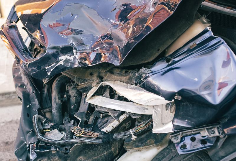 Auto zerschmetterte Detail stockfoto