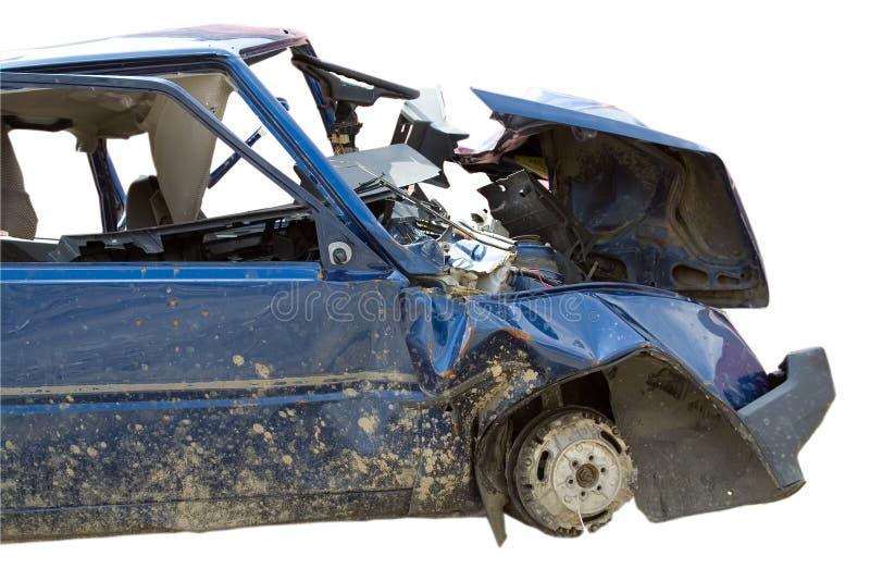 Auto zerschmetterte Unfall lizenzfreie stockbilder