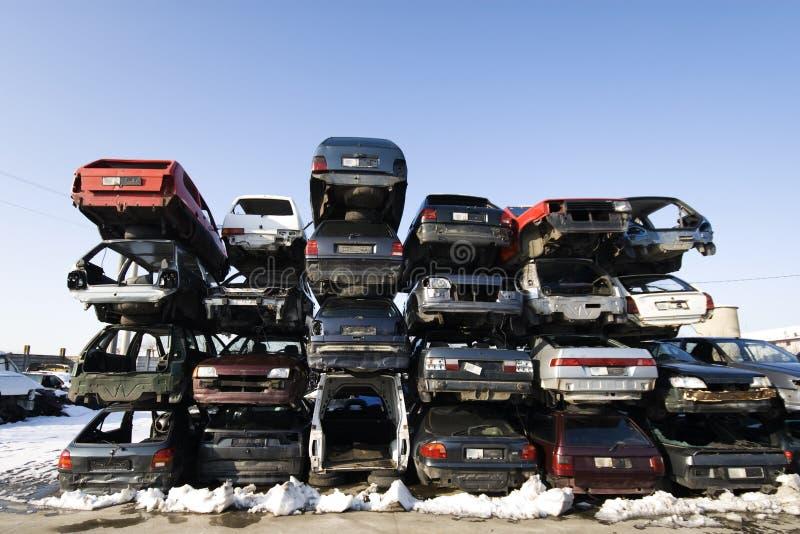 Auto zerstört lizenzfreie stockfotos