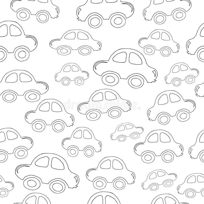 Auto zwart-wit patroon vector illustratie