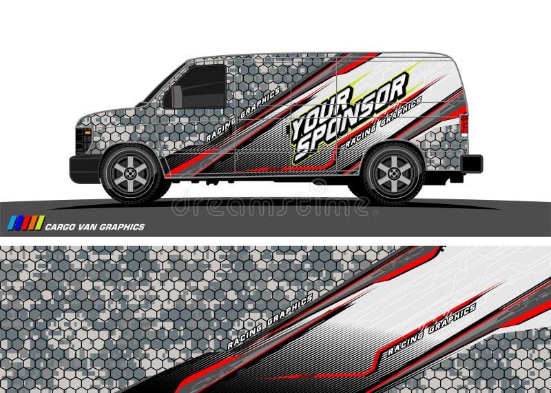Autoabziehbild-Designvektor abstrakter Hintergrund für Fahrzeugvinylverpackung vektor abbildung