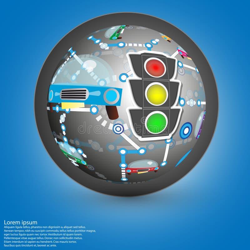 Autoachtergrond vector illustratie
