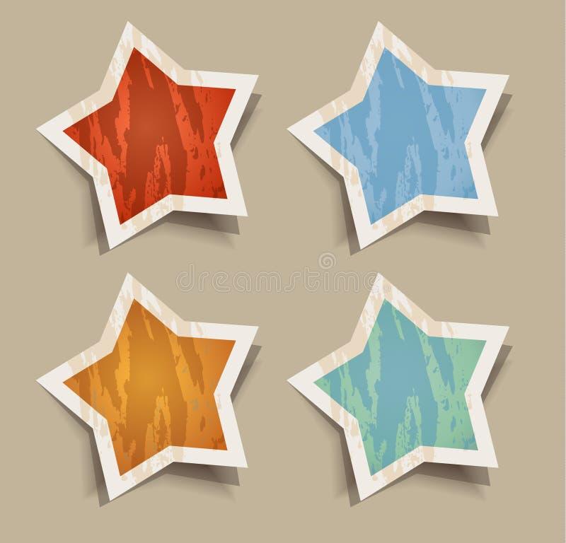Autoadesivi afflitti delle stelle illustrazione vettoriale