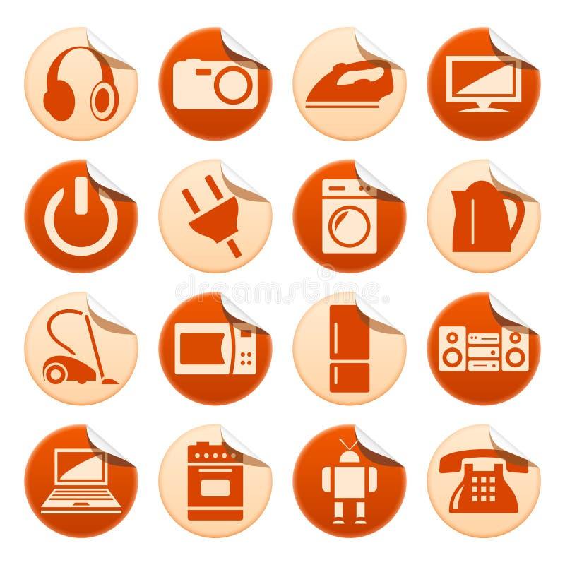 Autoadesivi degli elettrodomestici illustrazione di stock