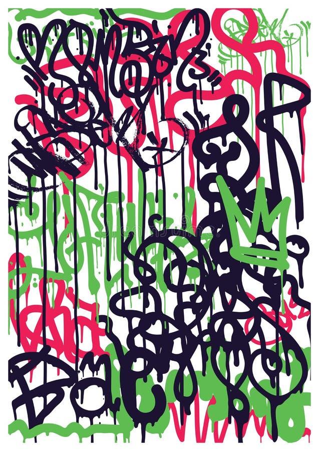 Autoadesivi dei graffiti del fondo illustrazione di stock