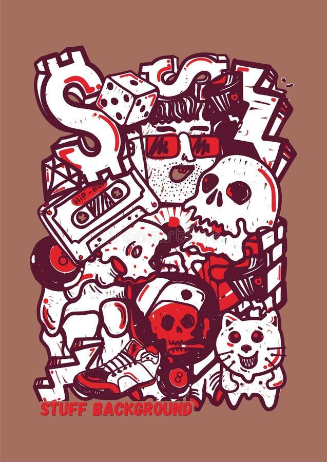 Autoadesivi dei graffiti del fondo illustrazione vettoriale