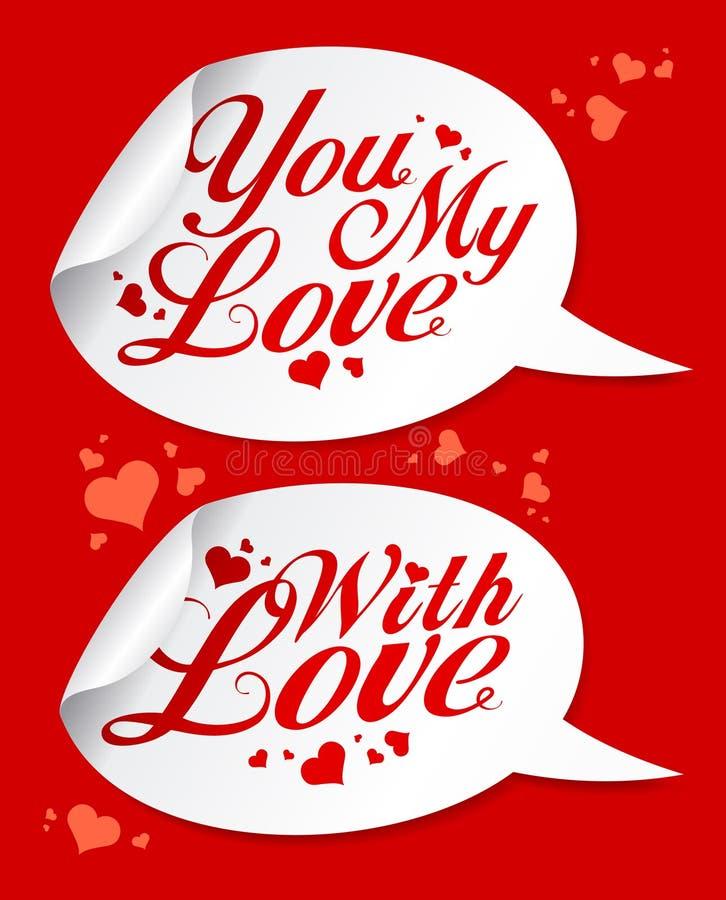Autoadesivi del biglietto di S. Valentino. royalty illustrazione gratis