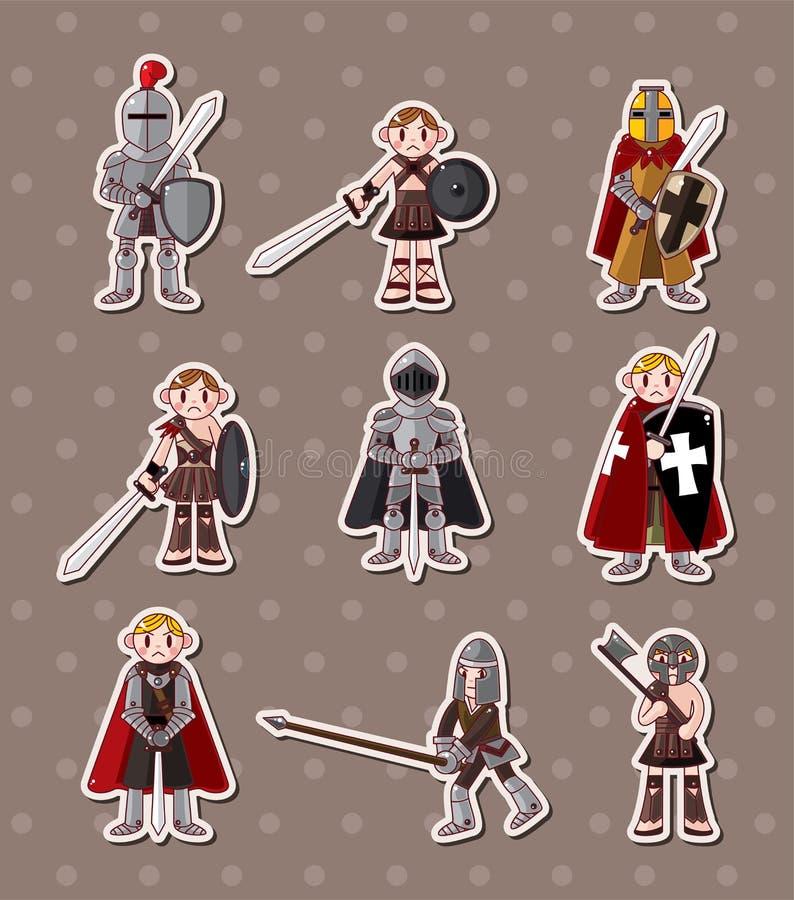 Autoadesivi del cavaliere royalty illustrazione gratis