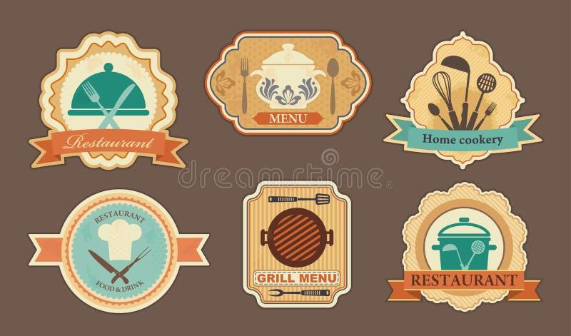 Autoadesivi del menu illustrazione vettoriale