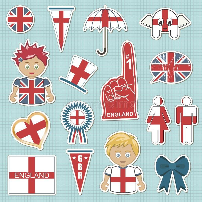 Autoadesivi del sostenitore dell'Inghilterra royalty illustrazione gratis