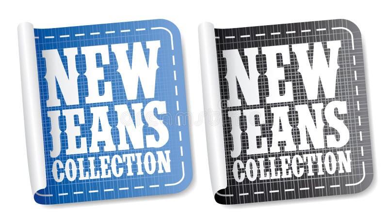Autoadesivi dell'accumulazione dei jeans royalty illustrazione gratis