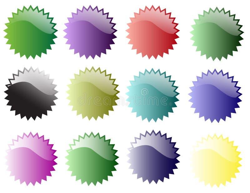 Autoadesivi della stella di vario colore fotografia stock libera da diritti