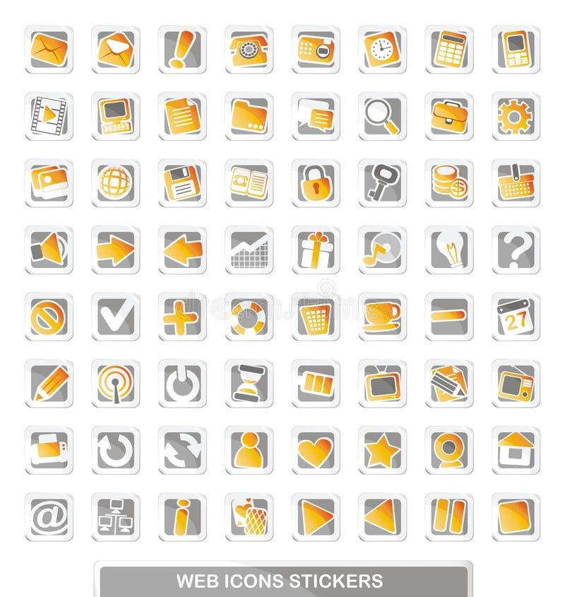 Autoadesivi delle icone di Web illustrazione vettoriale