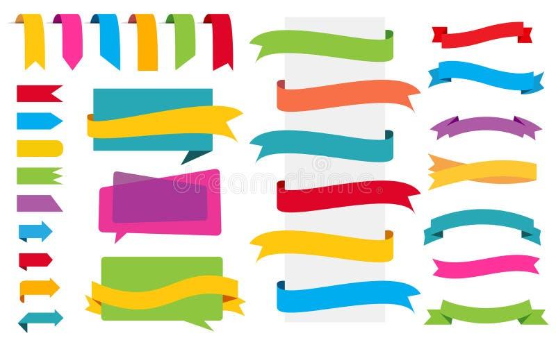 Autoadesivi delle insegne delle etichette di origami royalty illustrazione gratis