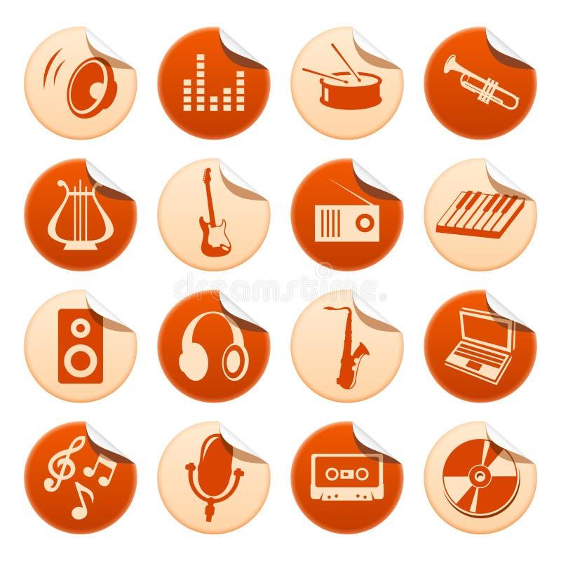 Autoadesivi di musica illustrazione di stock