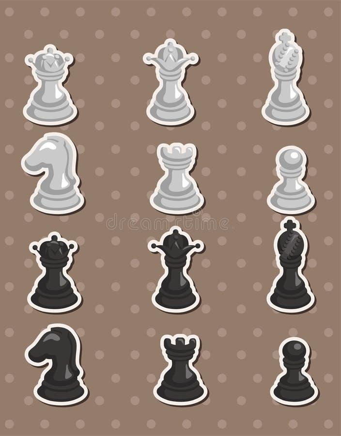 Autoadesivi di scacchi illustrazione di stock