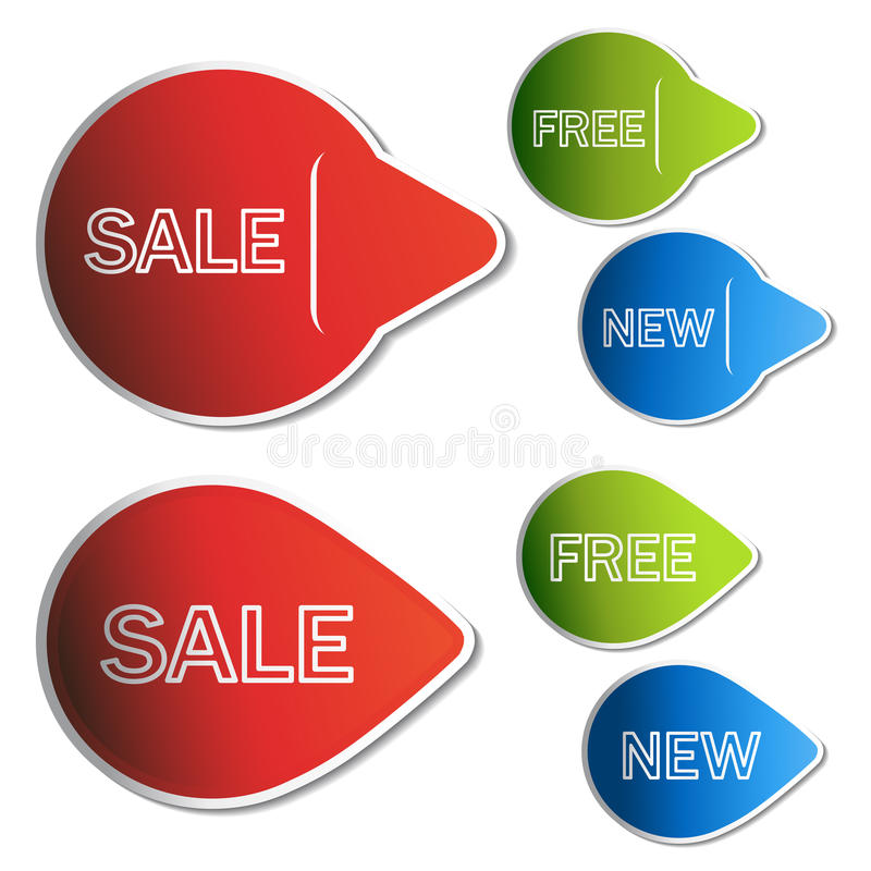autoadesivi di vendita royalty illustrazione gratis