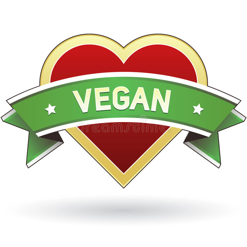 Autoadesivo del contrassegno dell'alimento del Vegan illustrazione di stock