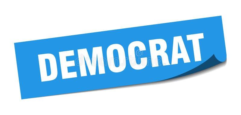 autoadesivo del democratico illustrazione vettoriale