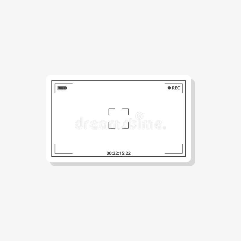 Autoadesivo del mirino della macchina fotografica, icona semplice di vettore royalty illustrazione gratis