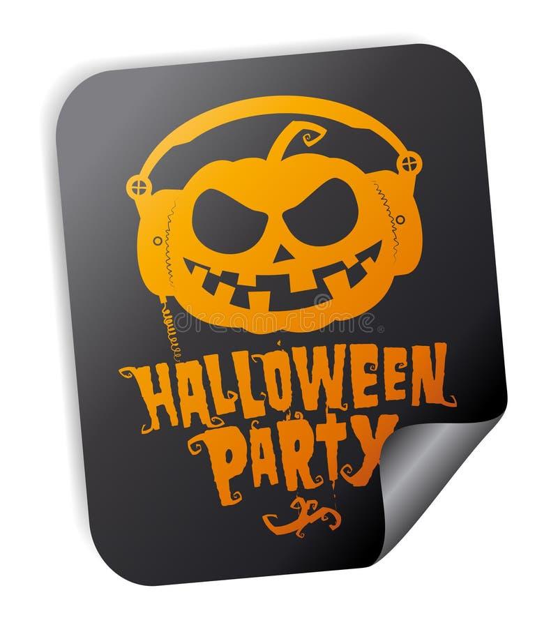 Autoadesivo del partito di Halloween illustrazione vettoriale