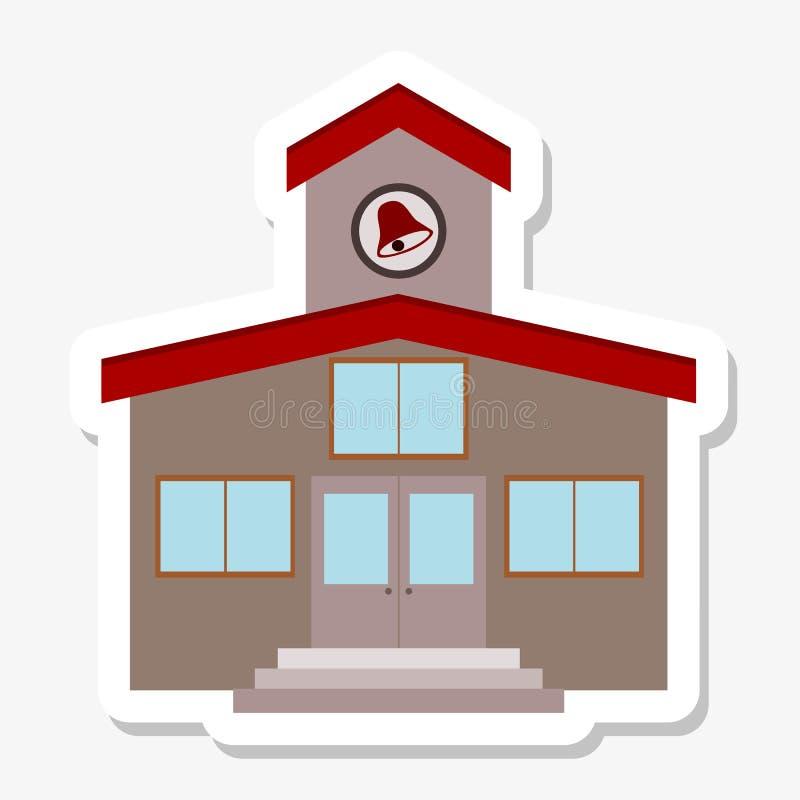 Autoadesivo dell'edificio scolastico illustrazione vettoriale