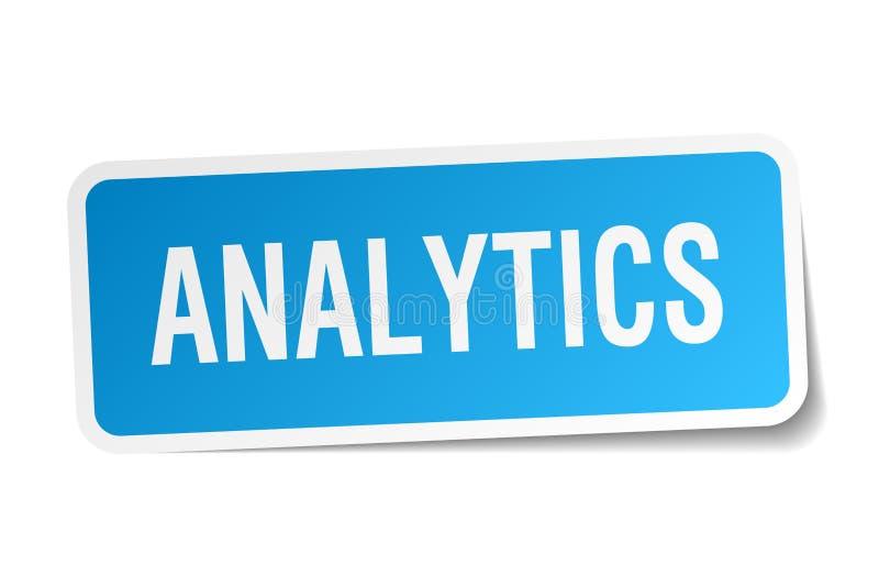 Autoadesivo di analisi dei dati illustrazione vettoriale