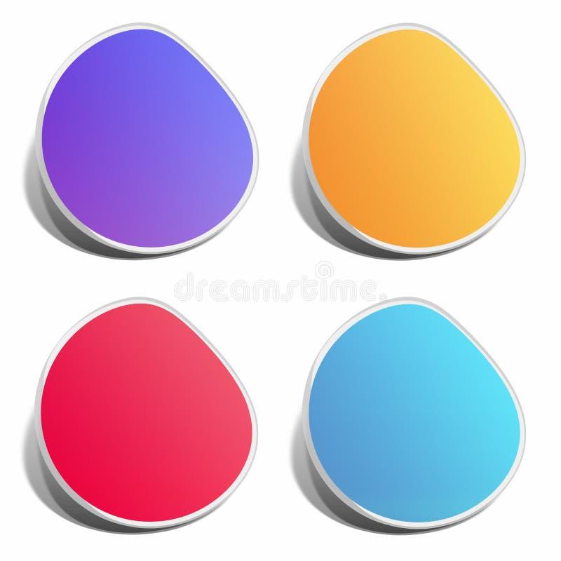 Autoadesivo di colore illustrazione vettoriale