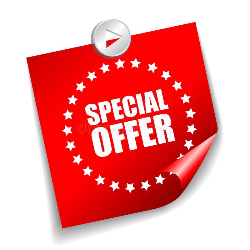 Autoadesivo di offerta speciale di vettore royalty illustrazione gratis