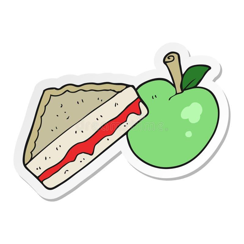 autoadesivo di un pranzo imballato fumetto illustrazione di stock