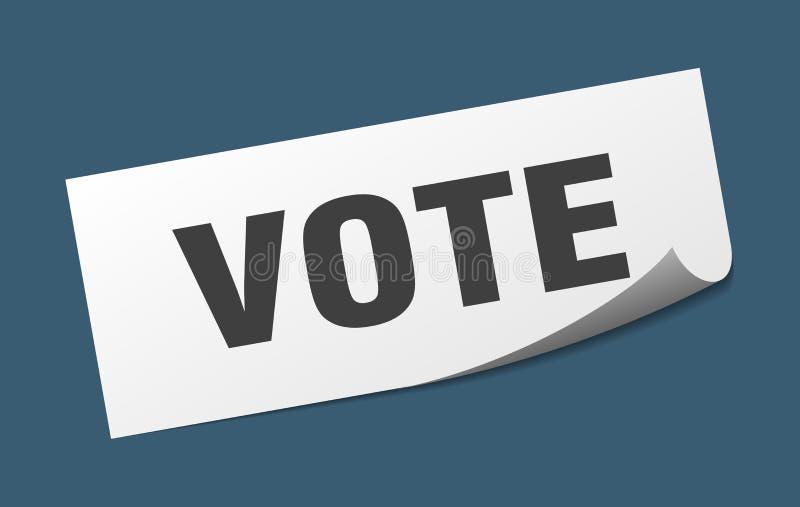 autoadesivo di voto royalty illustrazione gratis