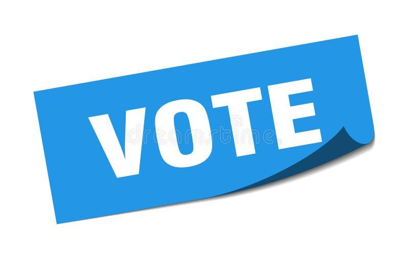 autoadesivo di voto illustrazione vettoriale