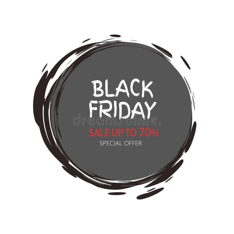 Autoadesivo mega del giro di Black Friday di offerta di vendita totale illustrazione di stock