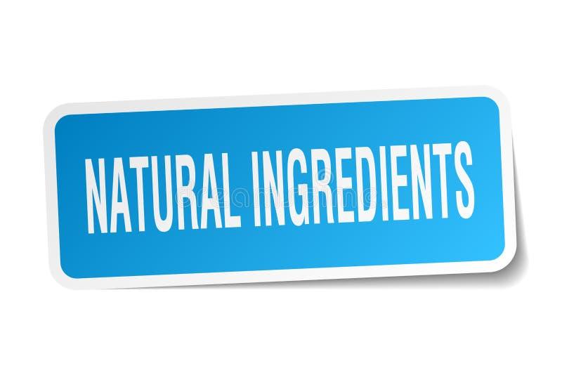 autoadesivo naturale degli ingredienti royalty illustrazione gratis