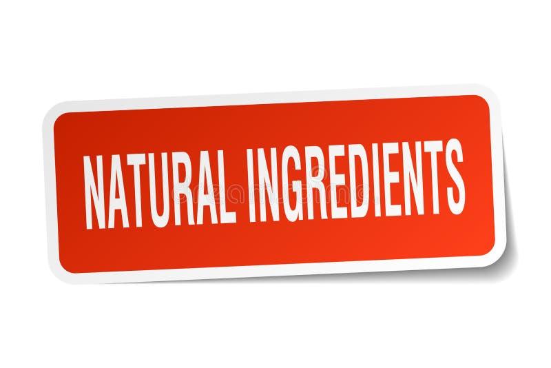 autoadesivo naturale degli ingredienti illustrazione vettoriale