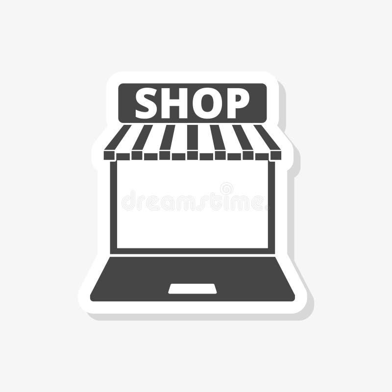 Autoadesivo online del deposito di commercio elettronico Concetto di affari royalty illustrazione gratis