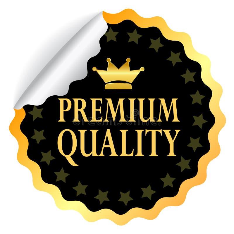 Autoadesivo premio di qualità illustrazione di stock