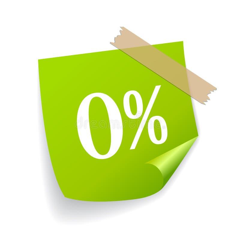 Autoadesivo zero di vettore delle percentuali illustrazione vettoriale