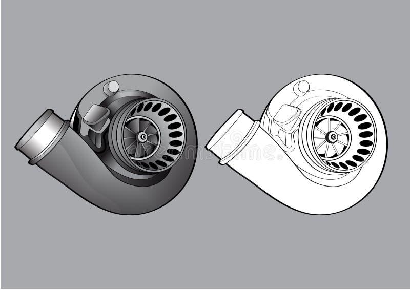 Autoausrüstungszusatz-Turbo-Laufen lizenzfreie stockfotos