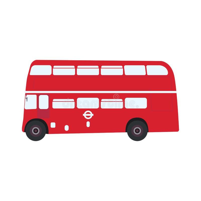 Autobús clásico inglés del autobús de dos pisos, vista lateral libre illustration