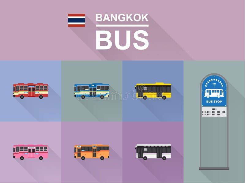 Autobús de Bangkok fotografía de archivo