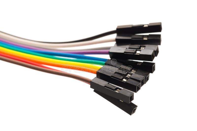 Autobús de cable del color aislado en blanco foto de archivo
